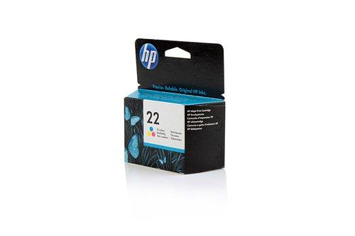 Original Tinte passend für HP DeskJet D 2360 HP 22 , NO22 , Nr 22C9352AE , C9352AEABB , C9352AEABD - Premium Drucker-Patrone - Cyan, Magenta, Gelb - 165 Seiten - 5 ml