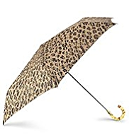 Per Una Animal Print Crook Handle Umbrella
