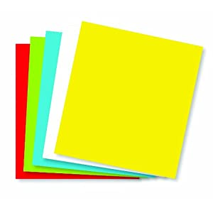 Wausau Astrobrights Premium Posterboard 5 Color Assortment, 80 lb, 22 X 28 Inches, Each(22057)