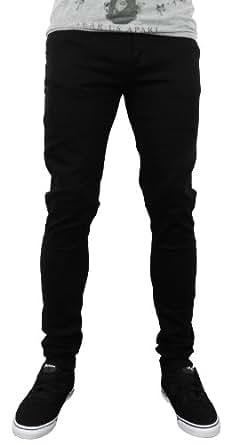 criminal damage skinny fit stretch herren jeans schwarz 34 weite bekleidung. Black Bedroom Furniture Sets. Home Design Ideas