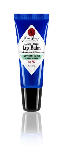 Jack Black Intense Therapy Lip Balm SPF 25, Natural Mint & Shea Butter