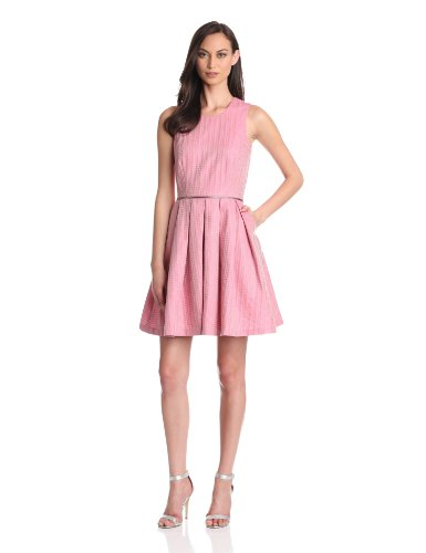 Cynthia Rowley Women's Ticking Dress, Pink, 0