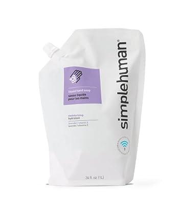 simplehuman 34 fl. oz. Moisturizing Liquid Hand Soap Refill Pouch, Lavender / Vitamin E