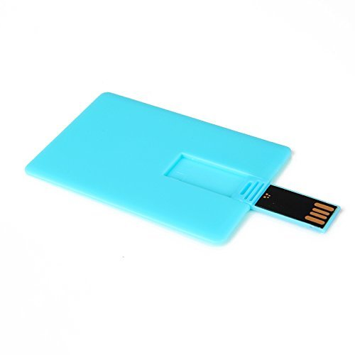 Enfain 2GB Credit Card USB Flash Drive - Pack of 10 - Blue