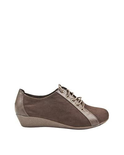 Alex Silva Zapatos Con Cuña  Cordones Beige