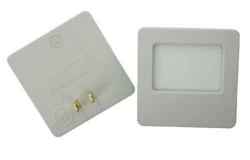 Leviton C22-16509-Soft Green Glow Guide Light, Almond, Pack Of 2