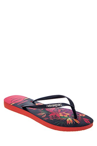 Slim Tropical Flip Flop