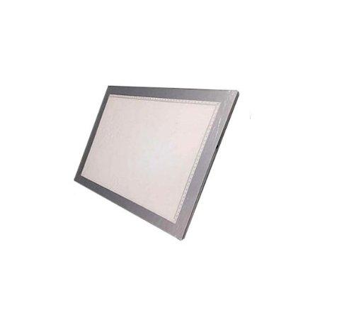 LED搭載 ブライトボード 描ける 写せる 書ける 測れる 夜間のメモ 写真の模写 子供『カラー:シルバー  サイズ:A4』