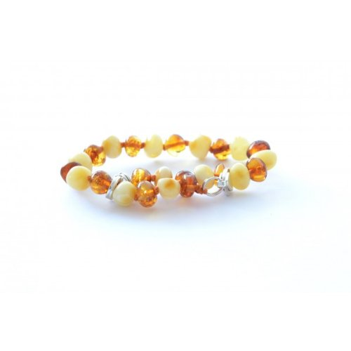 The Art of Cure Baltic Amber bracelet 10 Inch - Silver Lobster Clasp (1x1) - Anti-inflammatory - 1