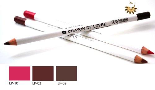 Itay Mineral Cosmetics Set of 3 Lip Liner Pencils (2,3,10) + Cala Dual Pencil Sharpener