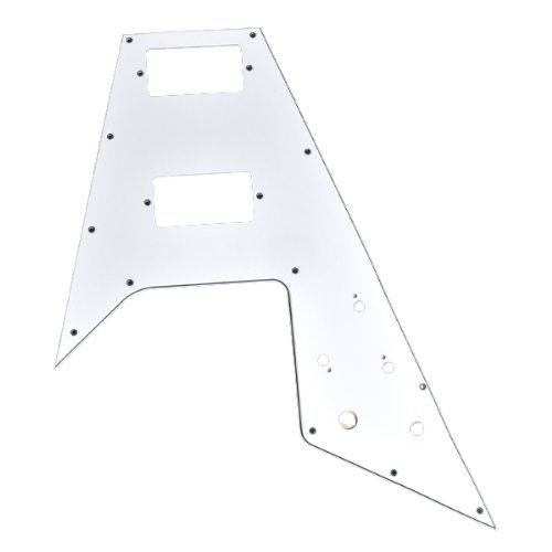 1Pc High Quality White 3-Ply 12 Screw Holes Pickguard For Gibson Flying V Guitar