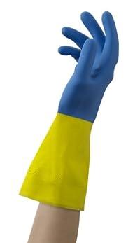 Mr. Clean 243030 Neo Bi-colored Neoprene Coated Gloves, Medium, 1 Pair