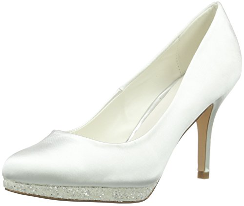 Menbur WeddingCecilia - Scarpe con Tacco Donna , Bianco (Elfenbein (Ivory)), 41