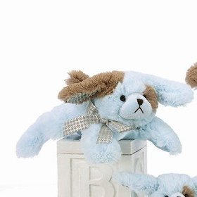 "Lil Waggles Blue Dog Rattle 8"" by Bearington"