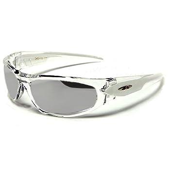 X-Loop Lunettes de Soleil - Sport - Cyclisme - Ski - Conduite - Moto / Mod. 1200 Blanc Cristal / Taille Unique Adulte / Protection 100% UV400