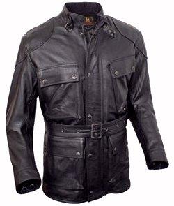 Belstaff Knockhill Men's Leather Motorcycle Jacket, black, large