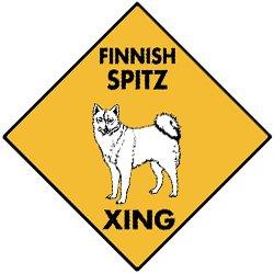 Amazon.com: Finnish Spitz Xing Dog Aluminum Sign: Home