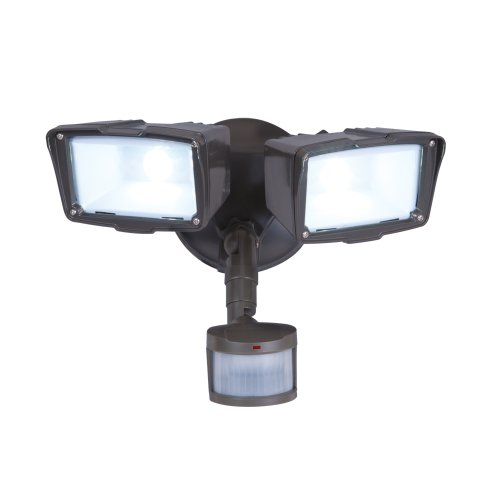 All-Pro Mst18920L, 180? Motion Activated Twin Head Led Floodlight, Bronze