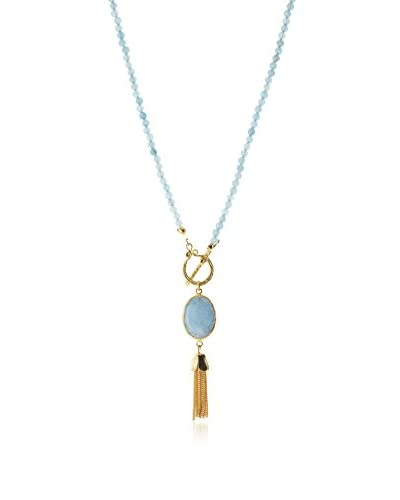 Jardin Blue Agate Toggle Necklace