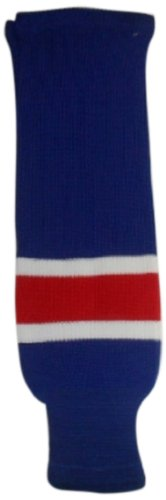 DoGree Hockey New York Rangers Knit Hockey Socks, Royal/White/Red, Youth/20-Inch (New York Ranger Youth Jersey compare prices)