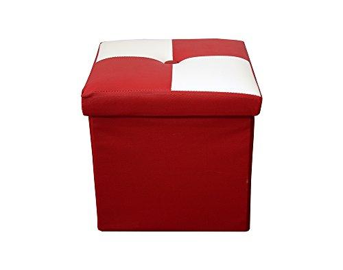 rebecca-srl-pouf-puff-pouff-puf-contenitore-baule-poggiapiedi-quadrato-bianco-rosso-moderno-soggiorn