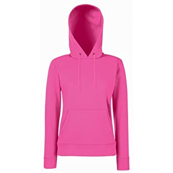 Fruit of the Loom Lady Fit Hooded Sweatshirt COLOUR Light Pink SIZE XS