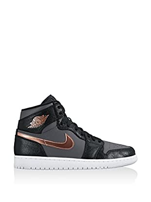 Nike Zapatillas abotinadas Air Jordan 1 Retro High (Negro / Gris)
