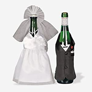 Wedding Gifts For Bride And Groom Amazon : Amazon.com: Bride & Groom Wedding Wine Bottle Decoration Cover ...