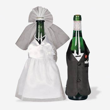 Bride & Groom Wedding Wine Bottle Decoration Cover