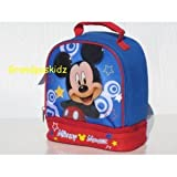 Disneyland Mickey Mouse Insulated Double Compartment Lunch Box Tote