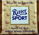 Ritter Sport White Whole Hazelnuts 100 g (Pack of 5)
