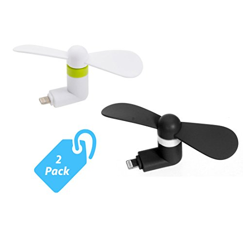 StyleTech Inc. Portable Cool Mini Rotating Fan for Apple Lighting Port Compatible with iPhone/iPods/iPad (2.) White + Black) (Bathroom Ceiling Fan Accessories compare prices)