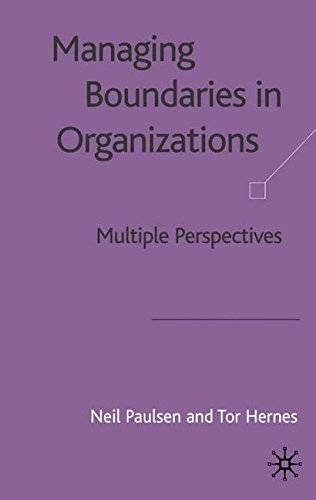 Managing Boundaries in Organizations: Multiple Perspectives