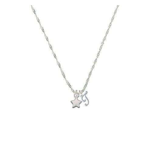 Mini 2-D White Star Mini Gelato Initial - T - Grace Necklace