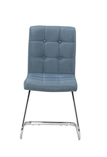 2x-Polsterstuhl-MERLIN-von-1stuff-Freischwinger-Esszimmerstuhl-Schwingstuhl-Konferenzstuhl-Besucherstuhl-Besprechungsstuhl-Kchenstuhl-Stuhl-fr-Wartezimmer-blau-Leinen