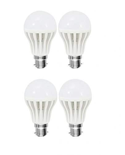 7W Bright White B22 LED Bulb (Set of 4)