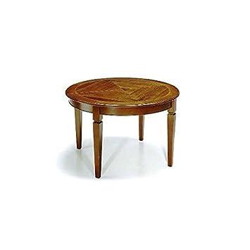 Table Extensible OVALE Rond Bois Massif pour Photos