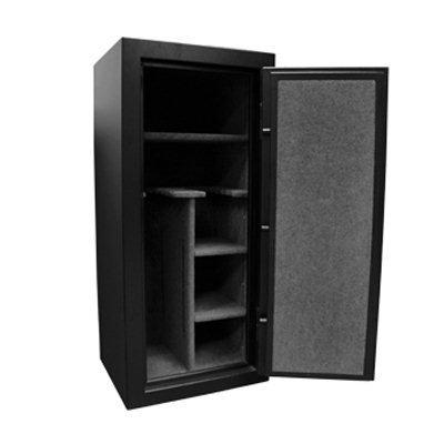 Homak Hs50121160 16-Gun Mechanical Combination Lock Fire Resistant Steel Safe, Black, 11.29-Cubic Feet