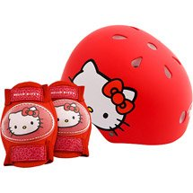 Hello Kitty Helmet and Protective Pad Set for Children Ages 5