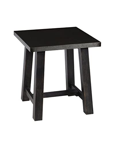 Tottenham Court Dylan End Table, Antiqued Black