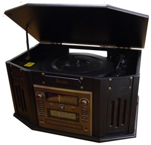 Grace Digital Audio VictoriaTunewriter IV CD Record in Ebony GDI-TW4CDE