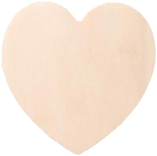 Darice 9138-44 Wood Heart Cutout, 3-Inch