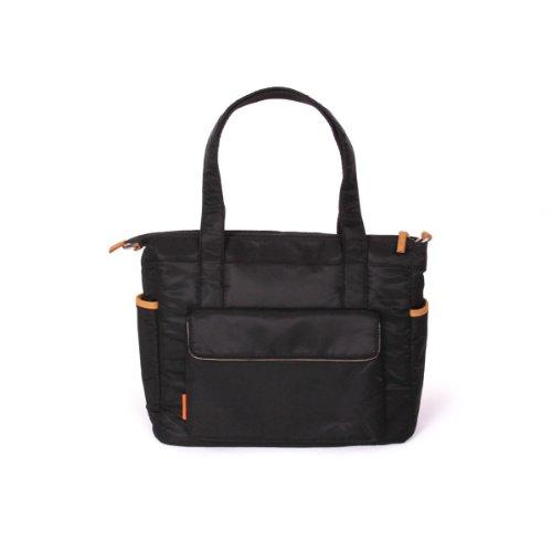Natineo - Sac à langer style cabas - Noir - Disponible en noir et bleu marine