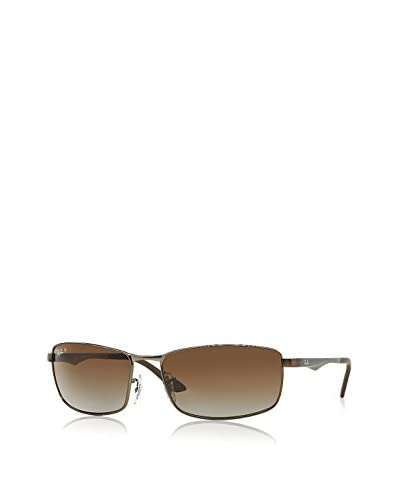 Ray-Ban Squared Aviator Sunglasses, Gunmetal/Brown