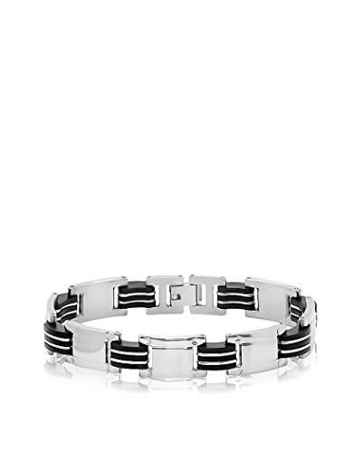 Steeltime Rubber Link & Stainless Steel Bracelet