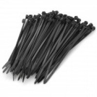 2.5 x 100mm Self Locking Nylon Cable Zip Ties – Black (100 PCS)