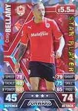 Match Attax 2013/2014 Craig Bellamy Cardiff City Star Player 13/14