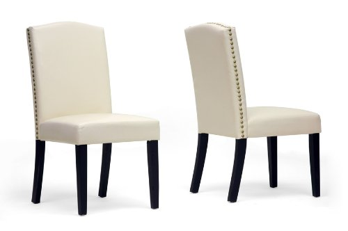 Trullinger Beige Modern Dining Chair with Chanasya Polish Cloth Bundle (Set of Two)