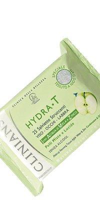 Salviette Struccanti Viso Occhi Labbra Con Acqua Di Mela E Zinco Per Pelli Miste E Lucide Confezione Da 25 Salviettine Hydrat