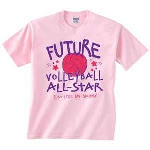 Future All-Stars Volleyball Girl T-Shirt 4T Light Pink front-1052644